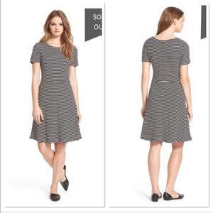 Madewell Anywhere' Stripe Midi career Dress